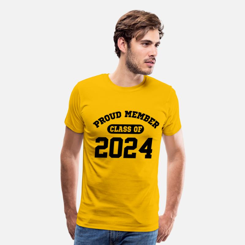 Senior T-Shirts - Class Of 2024 - Men's Premium T-Shirt sun yellow