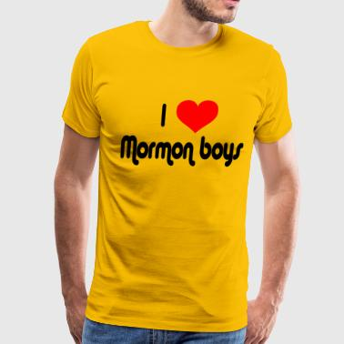 I Love Mormon Boys - Men's Premium T-Shirt