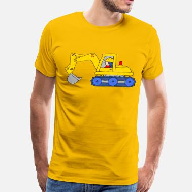 Backhoe Backhoe Loader - Men's Premium T-Shirt