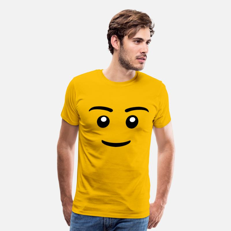 Lego T-Shirts - Lego Face Shirt - Men's Premium T-Shirt sun yellow