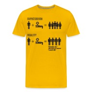 expectation vs reality gym meme men s premium t shirt expectation vs reality (gym meme) t shirt spreadshirt