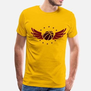 Wings Basketball basketball logo with wings - Men's Premium T-Shirt