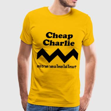 Thai Script Cheap Charlie - Men's Premium T-Shirt
