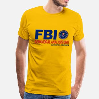 Behavioral Analysis Unit Criminal Minds BAU FBI - Men's Premium T-Shirt