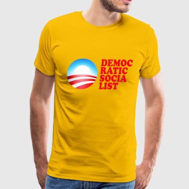 Obama Democratic Socialist - Men's Premium T-Shirt