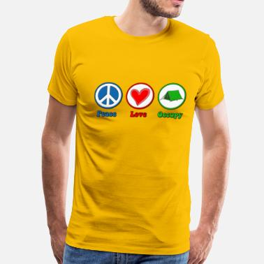 Protestant Peace Love Peace Love Occupy Protest - Men's Premium T-Shirt