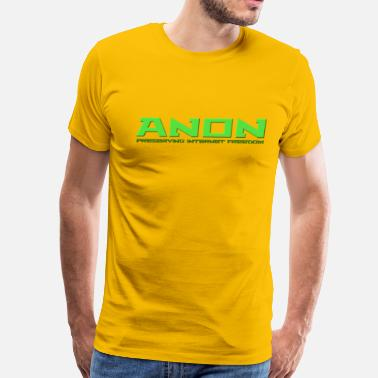 4chan B Anon Preserving Internet Freedom - Men's Premium T-Shirt
