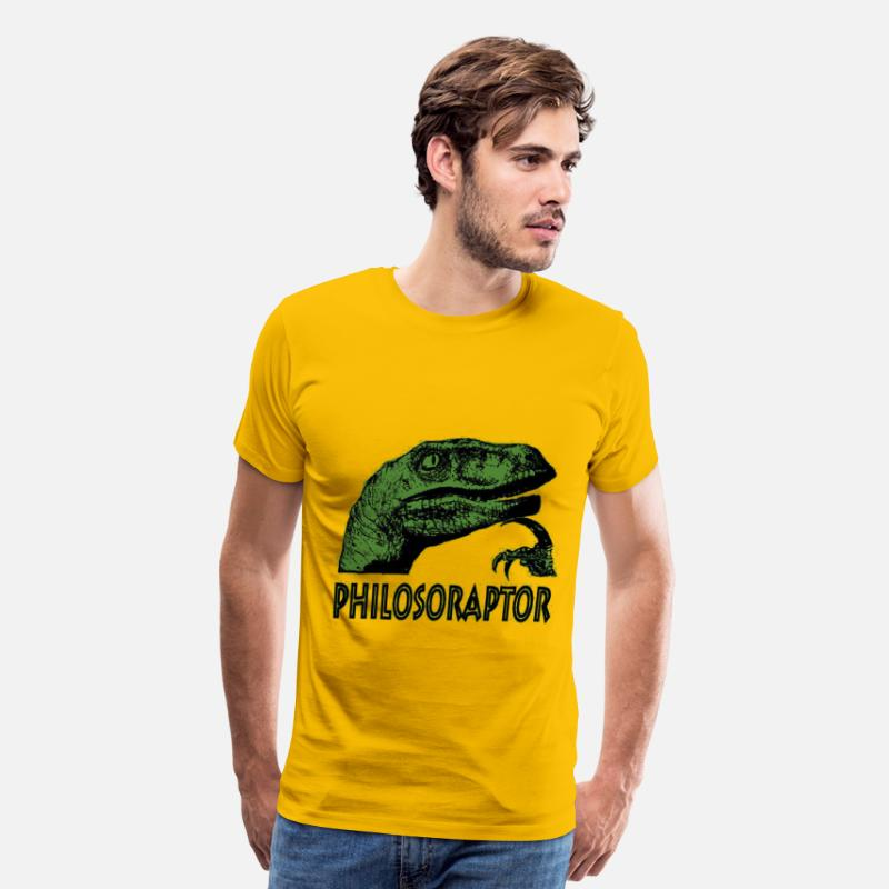 Clever T-Shirts - Philosoraptor - Men's Premium T-Shirt sun yellow