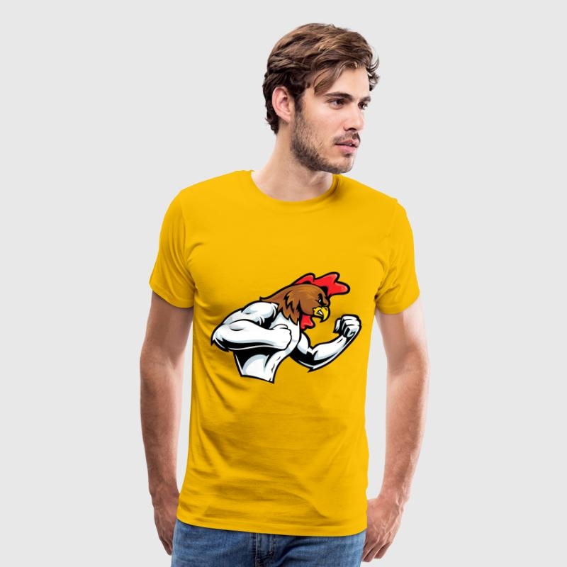 rooster fight - Men's Premium T-Shirt