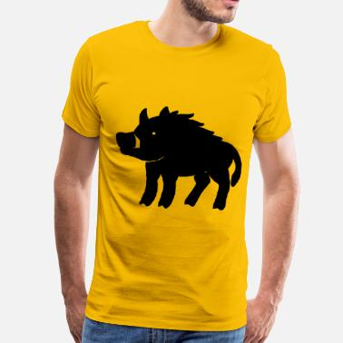 Wild Boar Chinese New Year Pig - Men's Premium T-Shirt