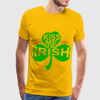 Kiss Me I'm Irish - Men's Premium T-Shirt