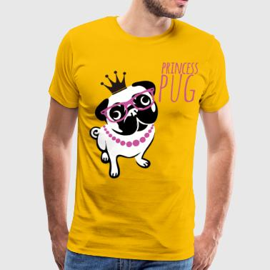 princess pug - Men's Premium T-Shirt