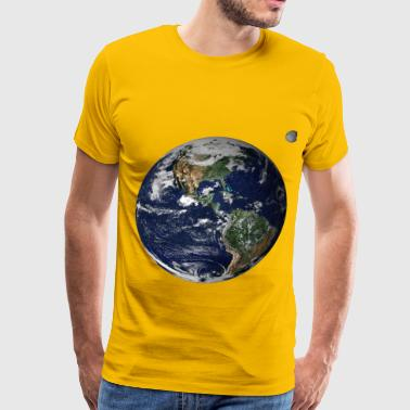 Earth and moon from space - Men's Premium T-Shirt