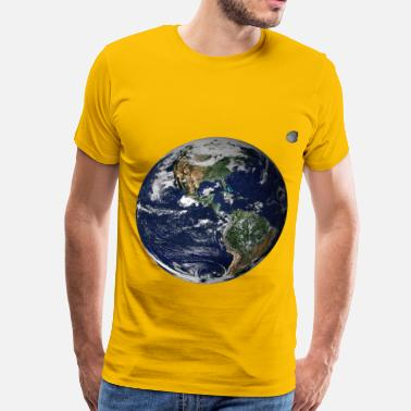 Earth Moon Earth and moon from space - Men's Premium T-Shirt