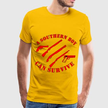 Survived Obama A Southern Boy Can Survive - Men's Premium T-Shirt