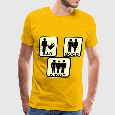 Mfm Sexy, Bad, Good, Kinky & 3Some  - Men's Premium T-Shirt