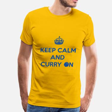 Keep Calm Curry Keep Calm and Curry On - Men's Premium T-Shirt
