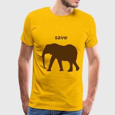 Save The Elephants save elephants - Men's Premium T-Shirt