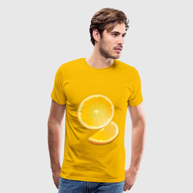 Orange Slice - Men's Premium T-Shirt