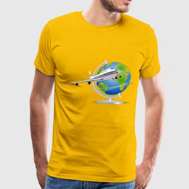 Travel Globe - Men's Premium T-Shirt