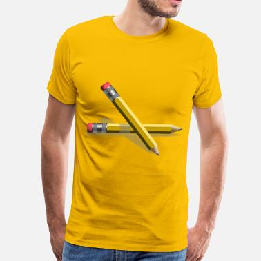 Pencil Yellow Pencils - Men's Premium T-Shirt