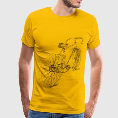 Bicycle Outline Bicycle Outline - Men's Premium T-Shirt