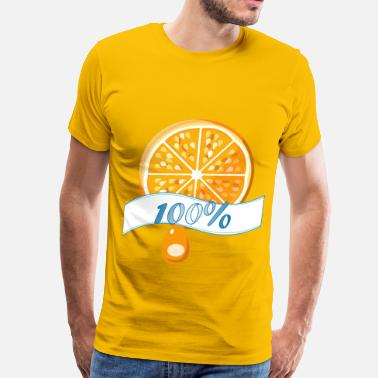 Orange Juice 100 percent Orange Juice - Men's Premium T-Shirt