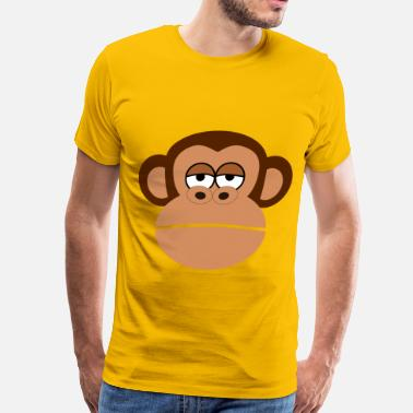 Cartoon Monkey Monkey Cartoon Face - Men's Premium T-Shirt