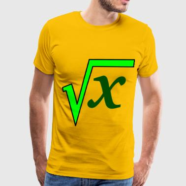 square root - Men's Premium T-Shirt