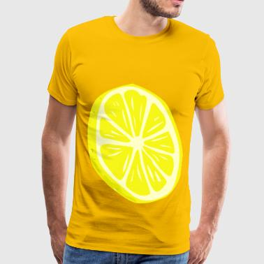 Lemon Slice - Men's Premium T-Shirt