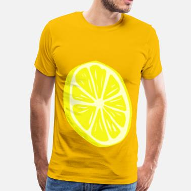 Lemon-slice Lemon Slice - Men's Premium T-Shirt
