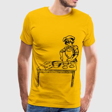 Woman Baking - Men's Premium T-Shirt