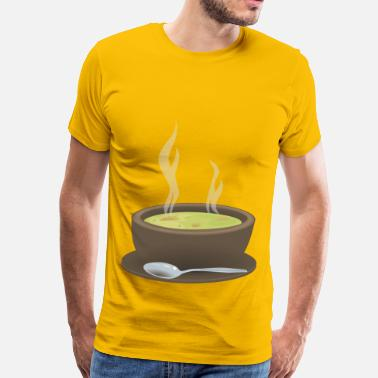 Steaming Hot Steaming Bowl of Soup - Men's Premium T-Shirt