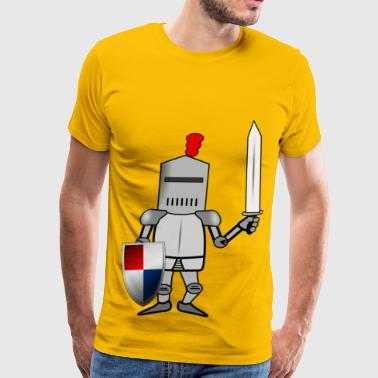 Knight in Armor with Shie - Men's Premium T-Shirt