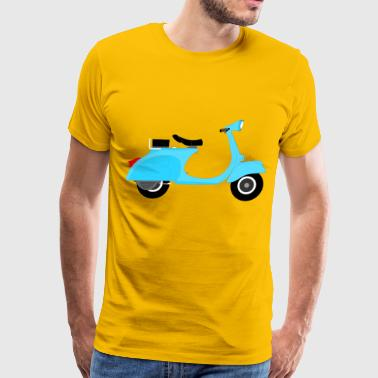 Blue Vespa - Men's Premium T-Shirt
