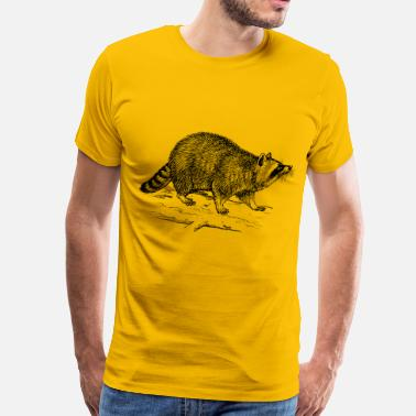 A Raccoon Dog raccoon - Men's Premium T-Shirt