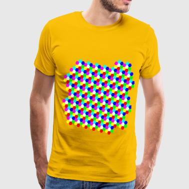 Colorful Hexagon - Men's Premium T-Shirt