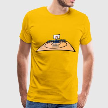 cartoon Basketball Court - Men's Premium T-Shirt