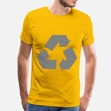 Iconic Arrow Simple recycle icon arrow - Men's Premium T-Shirt