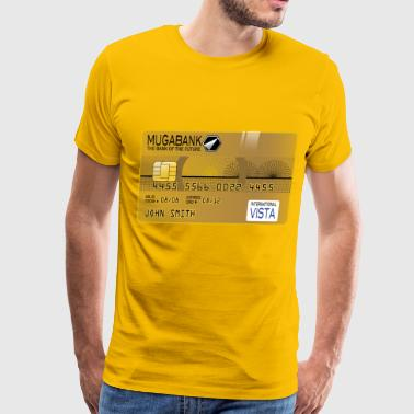 Golden Credit Card - Men's Premium T-Shirt