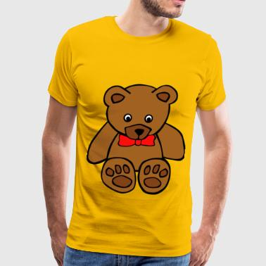 Simple Teddy Bear - Men's Premium T-Shirt