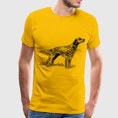 English setter dog - Men's Premium T-Shirt