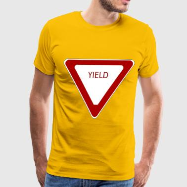 Yield Sign - Men's Premium T-Shirt