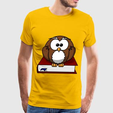 Cartoon Owl - Men's Premium T-Shirt