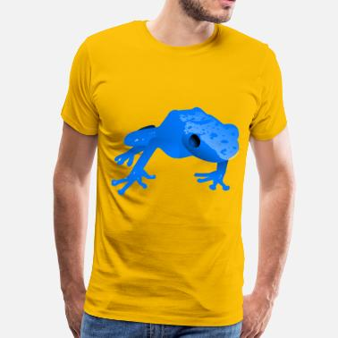 Poison Dart Frog Endangered blue poison da - Men's Premium T-Shirt