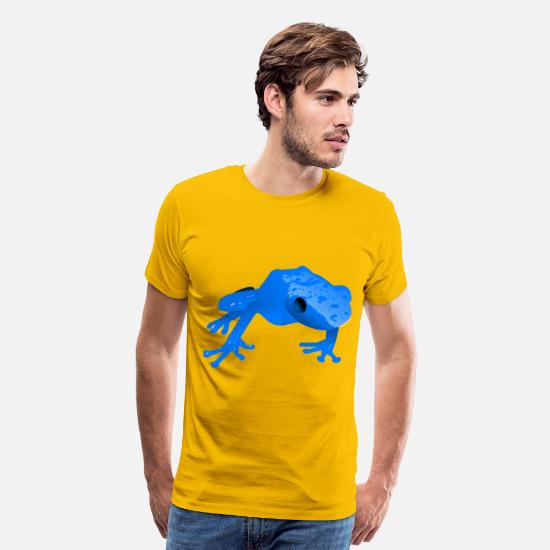 Dart T-Shirts - Endangered blue poison da - Men's Premium T-Shirt sun yellow
