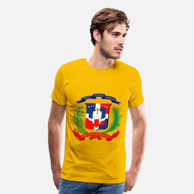 Dominican Republic T-Shirts - dominican republic - Men's Premium T-Shirt sun yellow