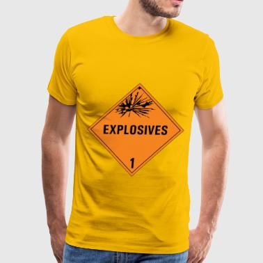 class 1 danger sign - Men's Premium T-Shirt