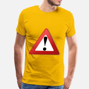 Warning Sign warning sign - Men's Premium T-Shirt
