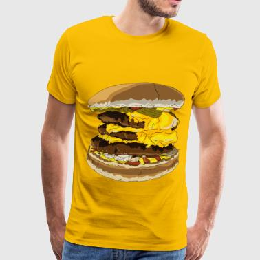 Fast Food Triple Cheeseburger - Men's Premium T-Shirt